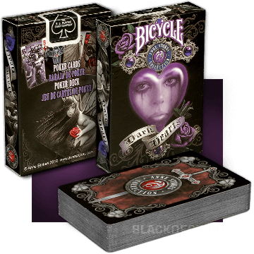 Bicycle Dark Hearts - карты Anne Stokes II