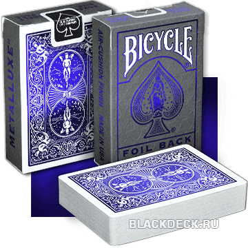 Bicycle Metalluxe Blue - Crimson Rider Back